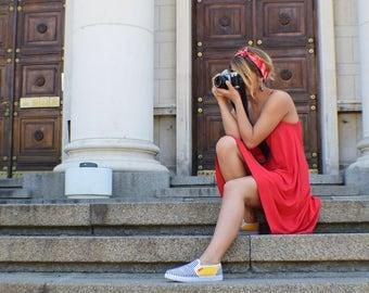 Gypsy Clothing, Red Summer Dress, Gypsy Dress, Red Boho Dress, Festival Clothes, Red Sun Dress, Hippie Dress, Bohemian Dress, Beach Dress