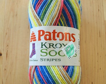 Sock Yarn - Patons Kroy Socks Stripes Wool Blend Yarn - Sailor Stripes