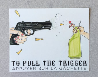 Gun and Lysol Duel Art Print