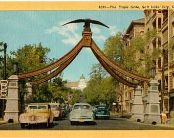 Vintage Utah Postcard - The Eagle Gate, Salt Lake City (Unused)