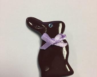 Chocolate Bunny Pin mini