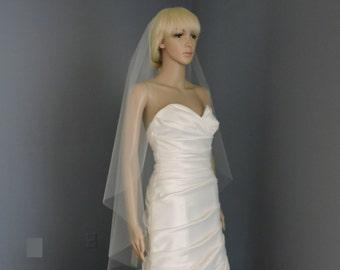 Cascade Cut Edge Veil, Bridal veil, Wedding Veil, Bridal Illusion Tulle GSYMCE