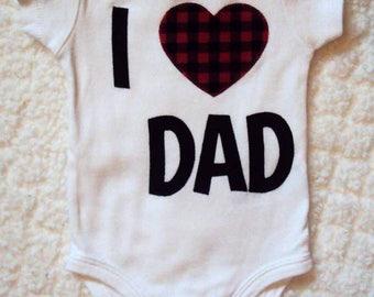 I Love Dad Shirt- Fathers Day Shirt- Kids Valentines Shirt- Boys Valentines Shirt- Valentines Day Shirt- Girls Valentines shirt