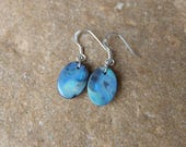 Boulder Opal jewelry - oval Opal earrings - turquoise blue stone jewelry - handmade in Australia by NaturesArtMelbourne