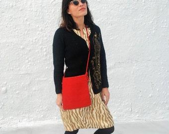 SALE Vintage 1950s Red Beaded Greek Purse Handmade by Their Majesties Fund in Greece