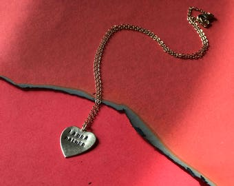 Twin Peaks Laura Palmer heart charm necklace