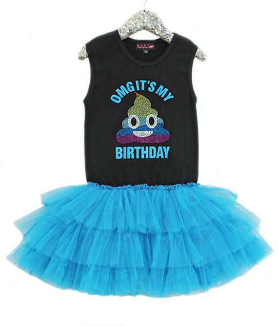 SALE Poop Emoji Rainbow Poop Emoji Birthday Girls Tutu