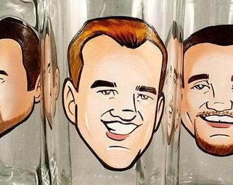 Custom Cool Groomsmen Gift - Original Custom Caricature Beer Mug - Premier Hand Painted Beer Mug