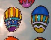 Easter eggs window clings
