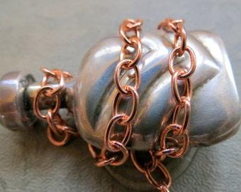 NEW PURE COPPER Chain . 12 inches