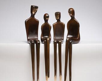 Bronze sculpture, custom family portraits, large statue, outdoor sculptures, art in the park, spectrum art