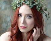 Ivy crown, leaf crown, wedding ivy headpiece, woodland wedding headband, boho bride hair wreath, natural crown, wedding hair accessories