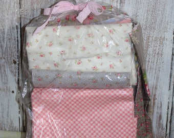 1 lb scrap bag Brenda Riddle Fabrics by Moda ... windermere and bespoke bloom ... shabby chic style roses