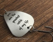 Greatest Catch Of My Life Fishing Lure Gift for Husband Fishing Lure Boyfriend Gift Mens Fishing Lure Mens Gift Valentines Day