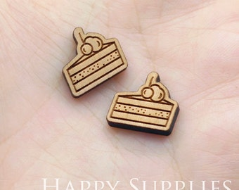 4pcs (SWC237) DIY Laser Cut Wooden Camera Charms