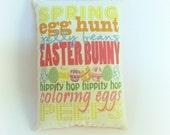 Easter pillow decor | Easter subway art | Spring decor | Primitive spring pillow | Easter gift | Easter Basket stuffer | Spring decoration