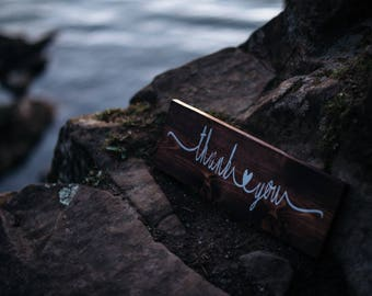 Wedding Sign, Thank You Sign, Rustic Wedding, Wedding Thank You, Wedding Photo Prop, Wedding Gift Table , Wood Wedding SIgn, Wood Thank You