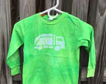 Garbage Truck Shirt (4/5), Green Truck Shirt, Kids Garbage Truck Shirt, Kids Truck Shirt, Boys Truck Shirt, Girls Truck Shirt, Long Sleeves
