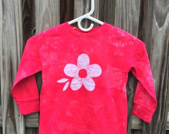 Flower Girls Shirt, Red Girls Shirt, Red Flower Girls Shirt, Batik Girls Shirt, Long Sleeve Girls Shirt, Girls Red Shirt, Girls Shirt (4/5)