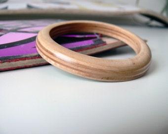 Women's Wood Bracelet - Recycled Skateboard Bangle