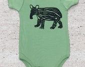 Baby Tapir Bodysuit Organic Green