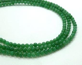 4mm Green Aventurine Semi Precious round beads, Full Strand