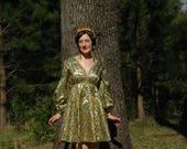 Adjustable Size...Vintage 1960s Party Dress... 60s Joseph Magnin Cocktail Dress... Incredible Colors