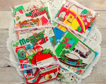 Vintage Christmas Gift Tags / Daily Planner / December / Junk Journal / Lot of 20