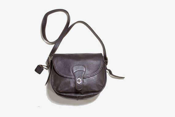 Vintage Leather Satchel / Brown Leather Satchel / Leather Saddle Bag / Brown Leather Bag / Structured Leather Purse