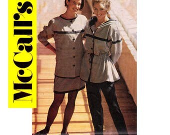 McCall's 5612 Womens GITANO Womens Anorak Jacket Skirt & Pants 90s Vintage Sewing Pattern Size 10 Bust 32 1/2 inches UNCUT Factory Folded