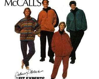 McCall's 7409 Mens Womens 90s Unisex Jackets Tops Pants & Headband Pattern Size Large Bust / Chest 38 40 Inches UNCUT Factory Folds