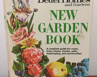 1968 New Garden Book - Better Homes and Gardens 2nd printing - 5 ring binder book - hard cover - vintage gardening book - retro photography