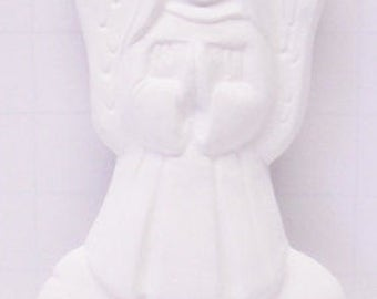 Ready To Paint, DIY Plaster Craft Flat Back Angel on Cloud Ornament #496