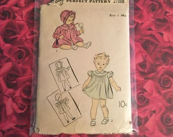 40's Vintage DuBarry Infant  Sewing Pattern