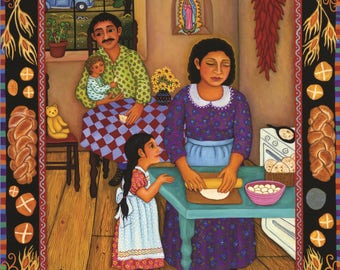 """Diana Bryer, """"The Tortilla Maker"""" 12"""" x 18"""" poster, 80 lb paper, artist will personalize, sign each"""