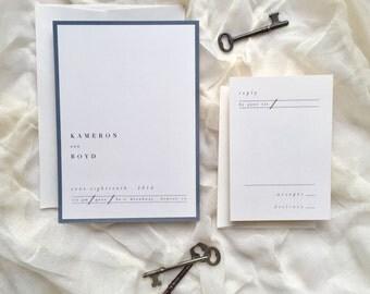 Most Modern Wedding Invitation Suite