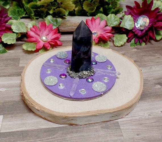 Crown Chakra Meditation Crystal Grid - Crystal Point - Crystal Art