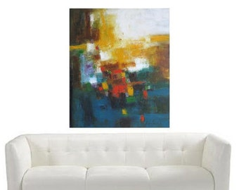 Large Abstract Painting fantastic wedding gift, graduation, moving to new home, office redecorating, retirement gift, reception area art