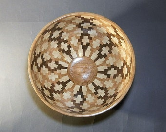 Segmented wood bowl  - B286