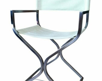 Vintage Director Chairs Pair White / Dining Side chair (4) Available Sold Twos