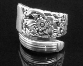 Recycled Spoon Ring, Coronation 1936, Fork and Spoon Jewelry