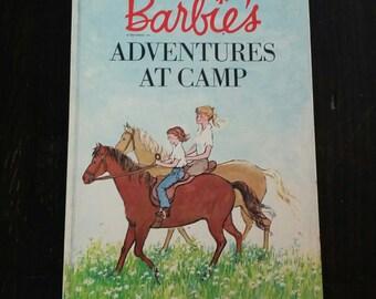 Vintage Book Barbie's Adventures At Camp 1964 Mattel by Carl Memling 60's Mid Century Children's Story w Charming Illustratons Burmah Burris