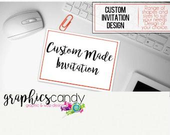 Custom Made Invitation - Party - Invitation - Custom Made