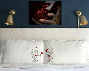 Robots in love Funny  Wedding Perfect Couple Gift
