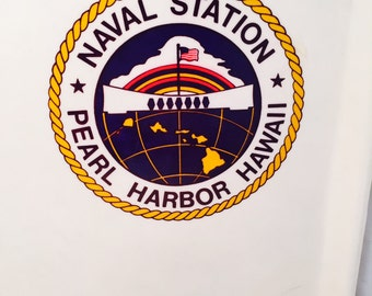 U.S. Military Mess Hall Tray, Naval Station, Pearl Harbor, SiLite Melamine, Cafeteria Tray