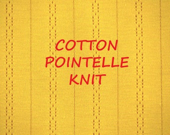 1-1/2 YARDS, Pointelle Knit, Bright Yellow, Wide Jacquard Fashion Fabric, Lightweight Cotton, B21