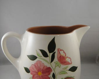 Stangl Pottery Wild Rose 64 ounce Pitcher