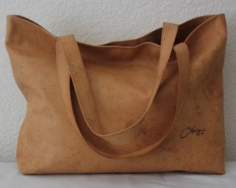 """Leather Vegetable Tanned Tote Bag,  Large """"Camel"""" Leather Tote Bag. Large Brown Leather Bag, Large Leather Tote Bag, Leather Tote Bag"""