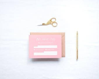 ADD ON: RSVP Cards & Envelopes | Charlotte Wedding Stationery Collection | Customisable Wedding Invites