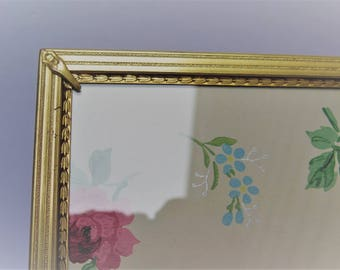 Art Deco Style 8 x 10 Decorative Antiqued Brass Picture frame